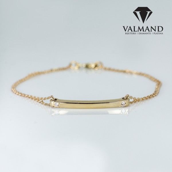 Bracelet from Gold or Platinum with Diamonds br1365