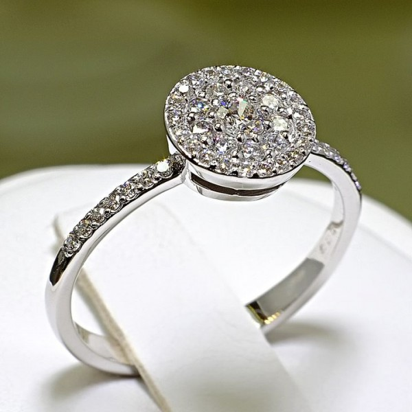Gold or Platinum engagement and anniversary ring with Diamonds i023DiDi