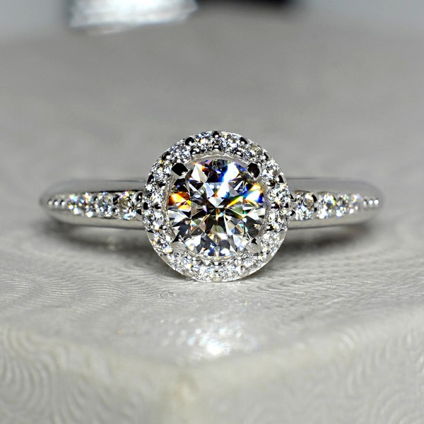 Gold or Platinum engagement ring with Diamonds 122699DiDi