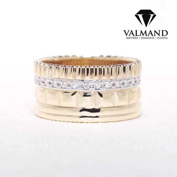 Gold wedding rings with Diamonds v036