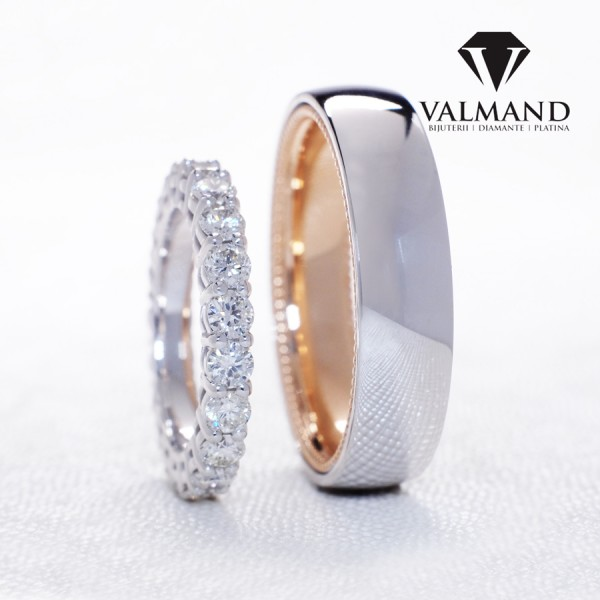 Verragio design wedding bands from Gold or Platinum with Diamonds v1230