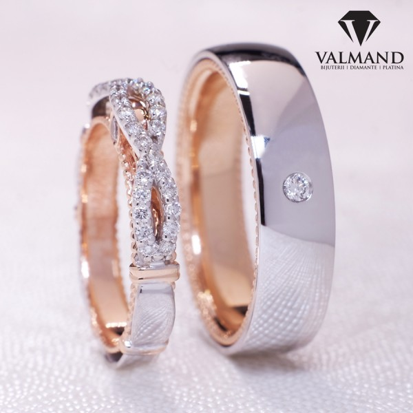 Verragio model wedding bands from Gold with Diamonds v7551